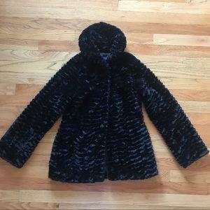 Girl's Patagonia Faux Fur Coat